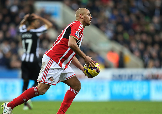 Sunderland's Wes Brown during their English Premier League soccer match against Newcastle United at St James' Park, Newcastle, England, Sunday, Dec. 21, 2014