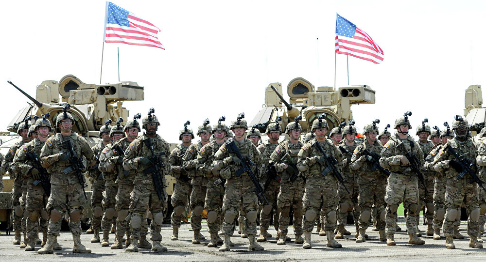 Soldiers of the US mechanized infantry company from the 1st Brigade, 3rd Infantry Division