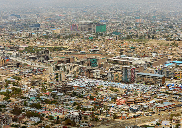 A general view of Kabul city beneath Koh-e Asmai, popularly called the TV Mountain