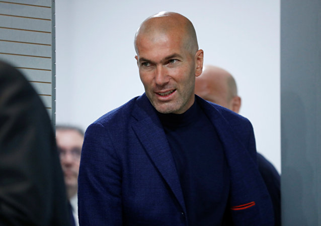 Soccer Football - Real Madrid - Zinedine Zidane Press Conference - Valdebebas, Madrid, Spain - May 31, 2018 Real Madrid coach Zinedine Zidane arrives for the press conference