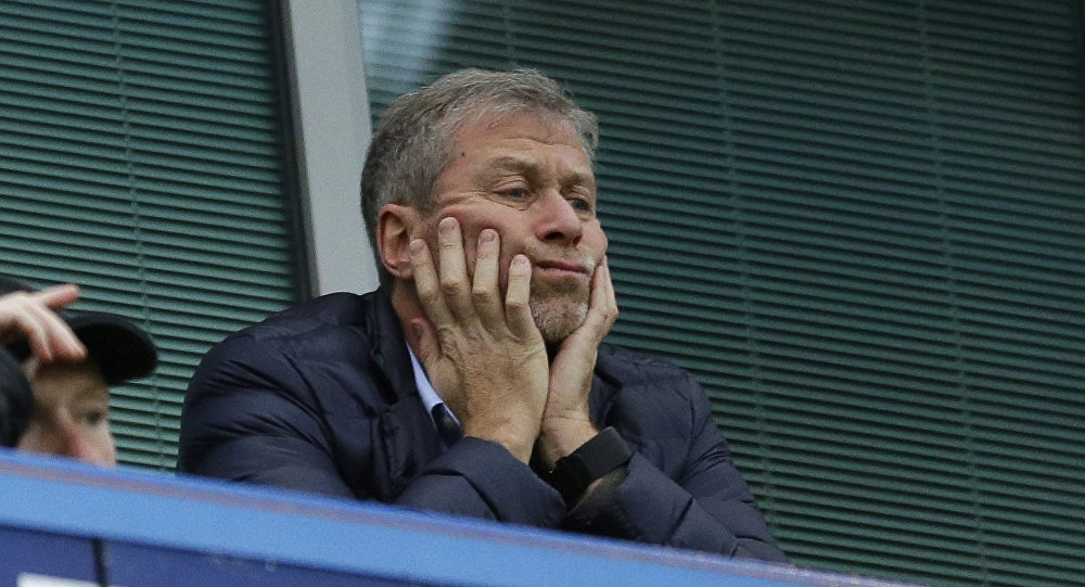 In this file photo dated Saturday, Dec. 19, 2015, Chelsea soccer club owner Roman Abramovich sits in his box before the English Premier League soccer match between Chelsea and Sunderland at Stamford Bridge stadium in London. Russian billionaire Roman Abramovich has received Israeli citizenship after his British visa has not been renewed. An Israeli Immigration and Absorption Ministry official says the Chelsea soccer club owner arrived in Israel Monday and was granted citizenship in accordance with an Israeli law granting that right to people of Jewish descent