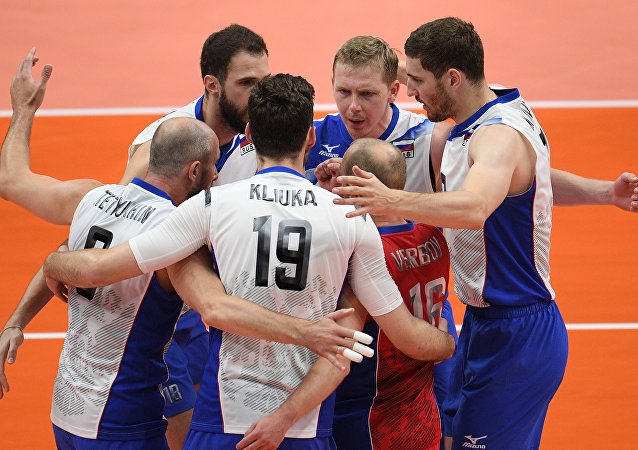 Male volleyball players of the Russian national team made ​​their way to the semi-finals of the Olympic tournament at the 2016 Games in Rio de Janeiro
