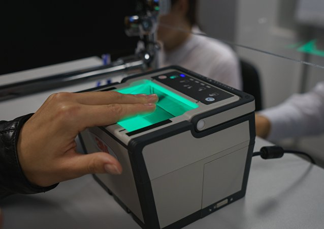 A demonstration of biometric information. (File)
