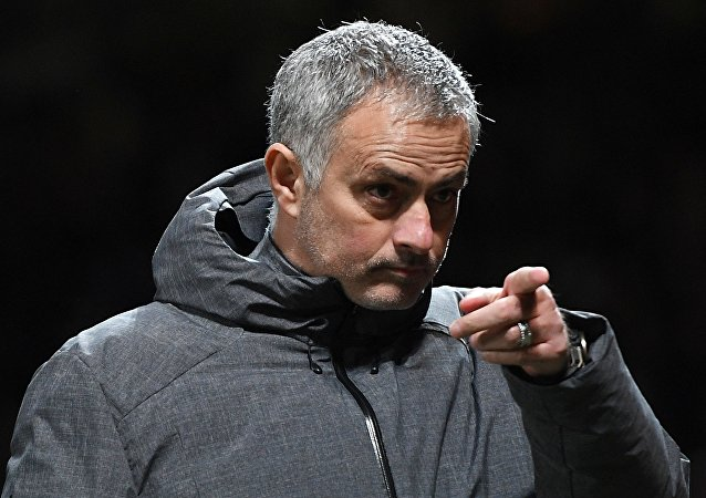 United manager Jose Mourinho is pictured ahead of a Champions League fixture against CSKA Moscow