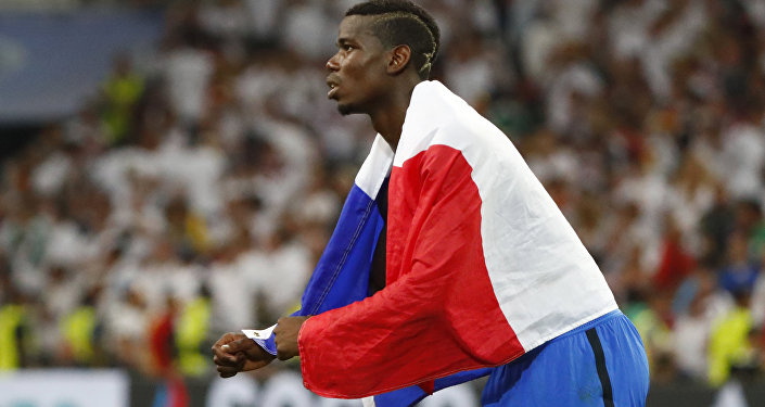 Football Soccer - Germany v France - EURO 2016 - Semi Final - Stade Velodrome, Marseille, France - 7/7/16 France's Paul Pogba celebrates at the end of the game