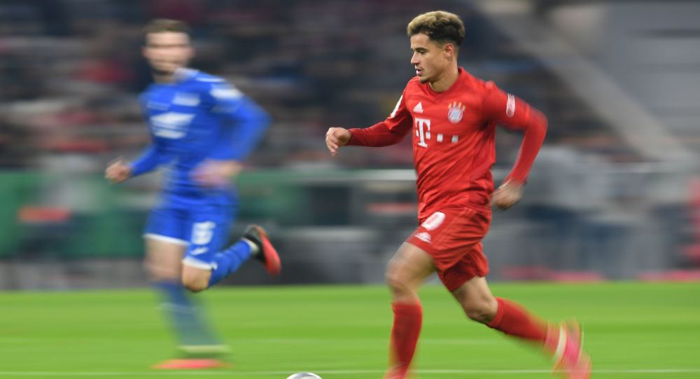 Soccer Football - DFB Cup - Third Round - Bayern Munich v TSG 1899 Hoffenheim - Allianz Arena, Munich, Germany - February 5, 2020, Bayern Munich's Philippe Coutinho in action