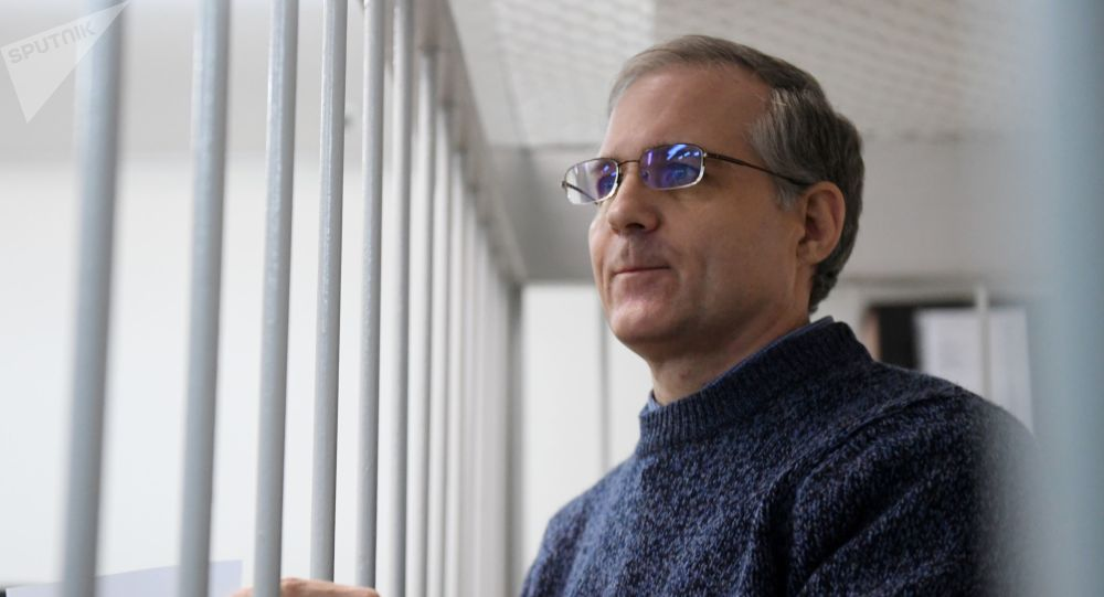 U.S. Paul Whelan waits in a courtroom as the court considers requests to extending his arrest, at the Lefortovsky Court, in Moscow, Russia