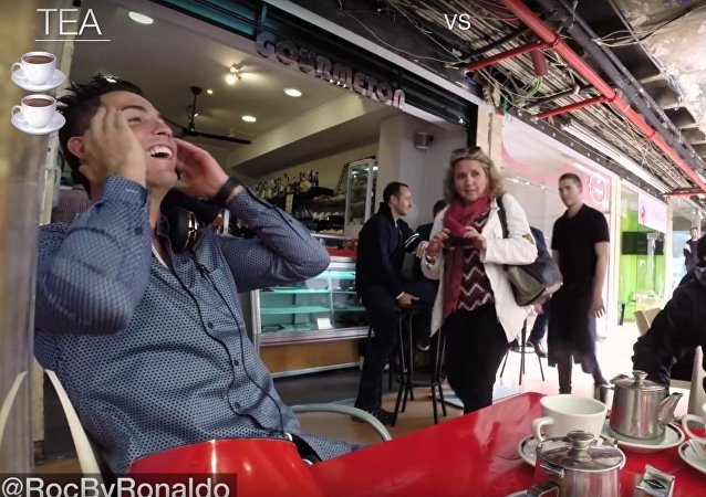 CRISTIANO RONALDO was just going out for tea and this happened...