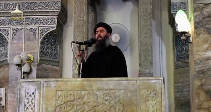 A man purported to be the reclusive leader of the militant Islamic State Abu Bakr al-Baghdadi has made what would be his first public appearance at a mosque in the centre of Iraq's second city, Mosul, according to a video recording posted on the Internet on July 5, 2014, in this file still image taken from video.